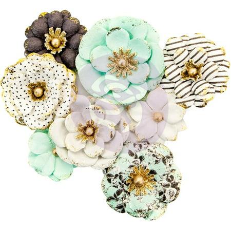 Flirty Fleur Mulberry Paper Flowers 8/Pkg-Goldkiss