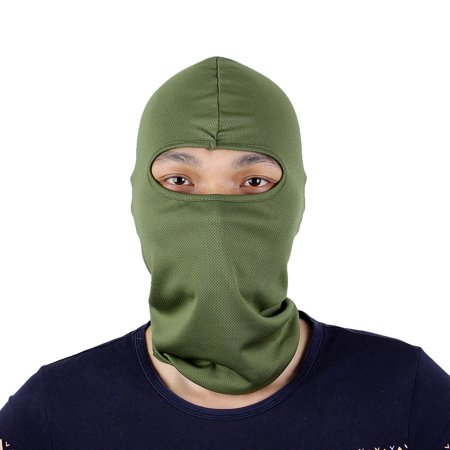 Motorcycle Ski Warm Full Face Mask Cover Neck Hood Balaclava Cap Hat Army Green