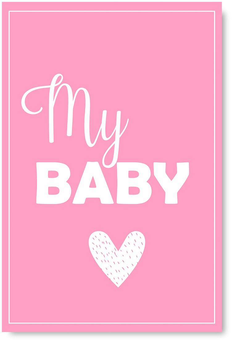 Awkward Styles My Baby Poster Wall Art Kids Room Wall Decor Pink Poster Baby Room Decor Gifts For Kids Baby Girl S Room Printed Art Picture Mother Quotes Decor Girls Play Room Wall