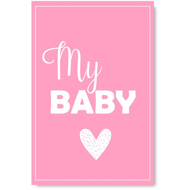 Awkward Styles My Baby Poster Wall Art Kids Room Wall Decor Pink