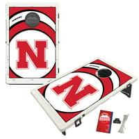 Nebraska Cornhuskers 2' x 3' BAGGO Vortex Cornhole Board Tailgate Toss Set - No Size