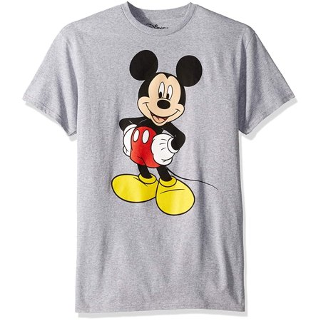 Disney Mickey Mouse Men's Mickey Wash Short Sleeve T-Shirt, Heather Grey](Couples Disney Shirts)