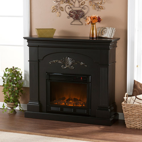 **DNP until bundle can be builtChamberlain Electric Fireplace, Black with Gold Accents