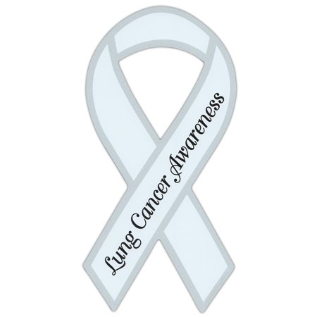 Ribbon Shaped Awareness Support Magnet - Lung Cancer - Cars, Trucks, SUVs, Refrigerators