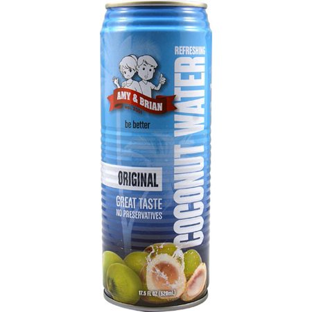 Amy; Brian All Natural Pulp Free Coconut Water, 17.5 Fl Oz