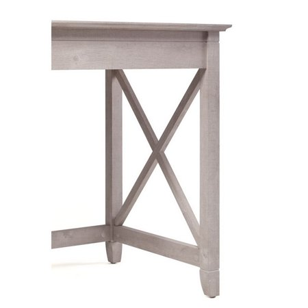 "Key West 2 Piece 54"" Single Pedestal Desk and File Cabinet Set in Washed Gray - image 2 de 17"
