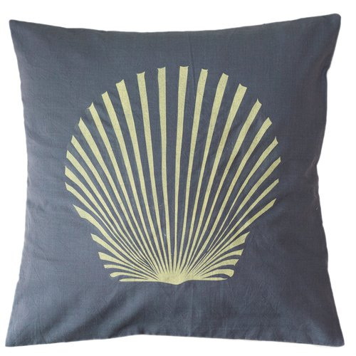Sustainable Threads Sanibel Island Shell Cotton Throw Pillow