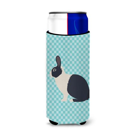 Carolines Treasures BB8132MUK Dutch Rabbit Blue Check Michelob Ultra Hugger for Slim Cans - image 1 de 1