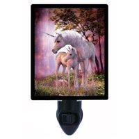 Night Light, Photo Night Light, Unicorn Mare and Foal, Fantasy, Unicorns plus FREE Switchable Insert