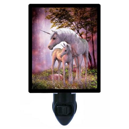 Fantasy 6 Light - Night Light - Photo Light - Unicorn Mare and Foal - Fantasy - Unicorns