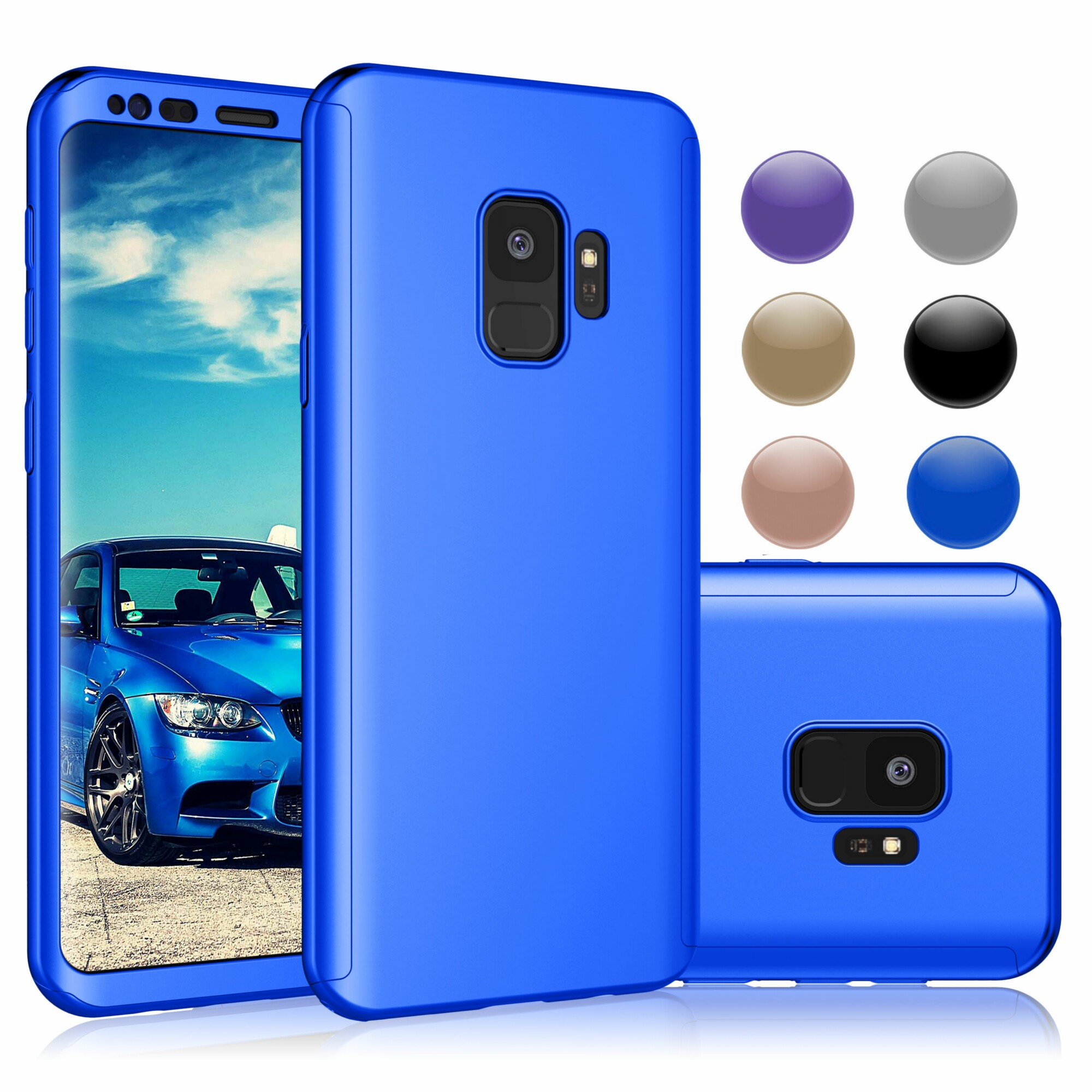 Njjex Case For Samsung Galaxy S9 Plus / S9, Ultra Thin Full Body Coverage Protection Scratch Proof Hard Hybrid Plastic Case Cover Shell