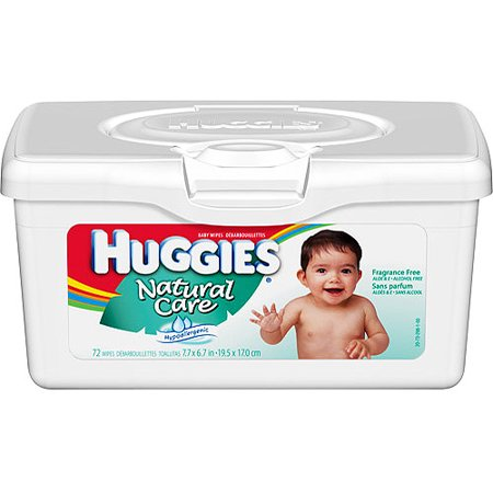 Huggies Natural Care Fragrance Free Baby Wipes Pop Up