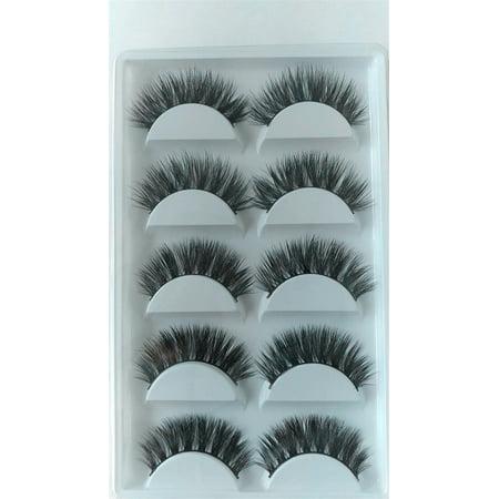 10 pairs Fake False Eyelashes Eyelash Extension Handmade 100% Real Mink Hair - Feather Fake Eyelashes