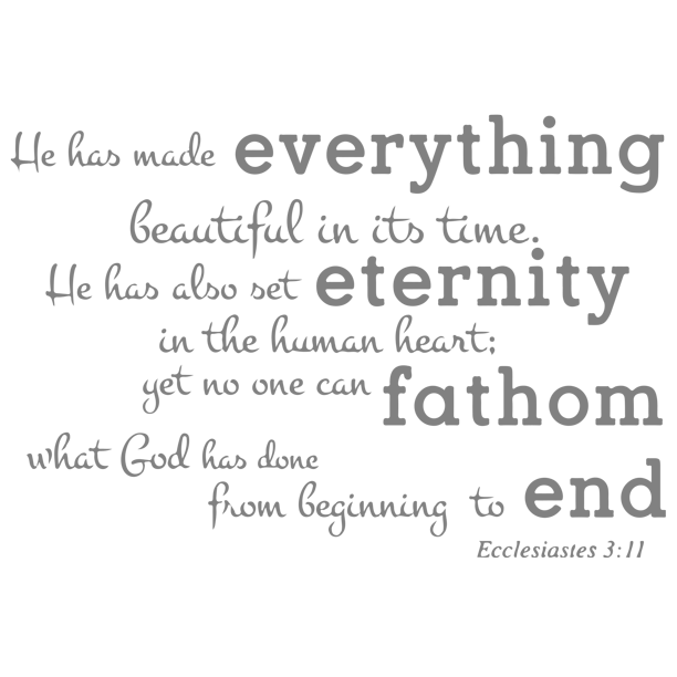 Ecclesiastes 3 11 He Has Made Everything Beautifula Vinyl Decal Sticker Quote Medium Gray Walmart Com Walmart Com Find vegeta, dragon ball z designs decal sticker vinyl for macbook pro/air 13,15 inch macbook are made out of highest. walmart