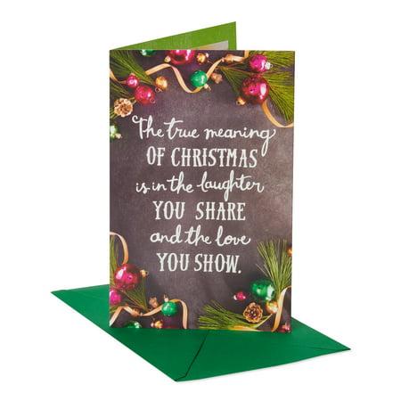 American Greetings True Meaning Christmas Greeting Card ()