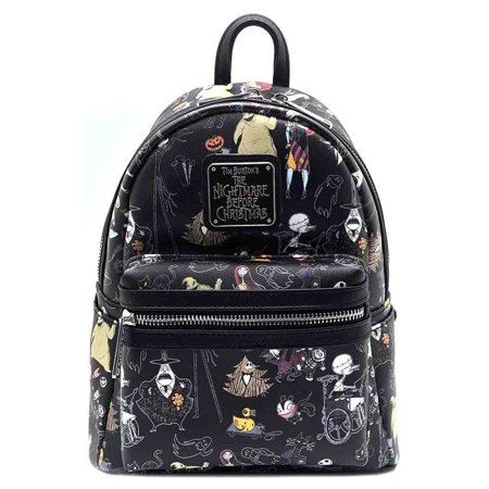 loungefly disney nightmare before christmas characters jack mini backpack purse - Nightmare Before Christmas Backpack