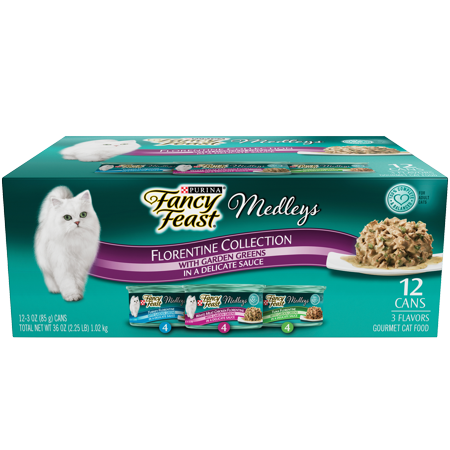 (Purina Fancy Feast Medleys Florentine Collection Adult Wet Cat Food Variety Pack - (12) 3 oz. Cans)