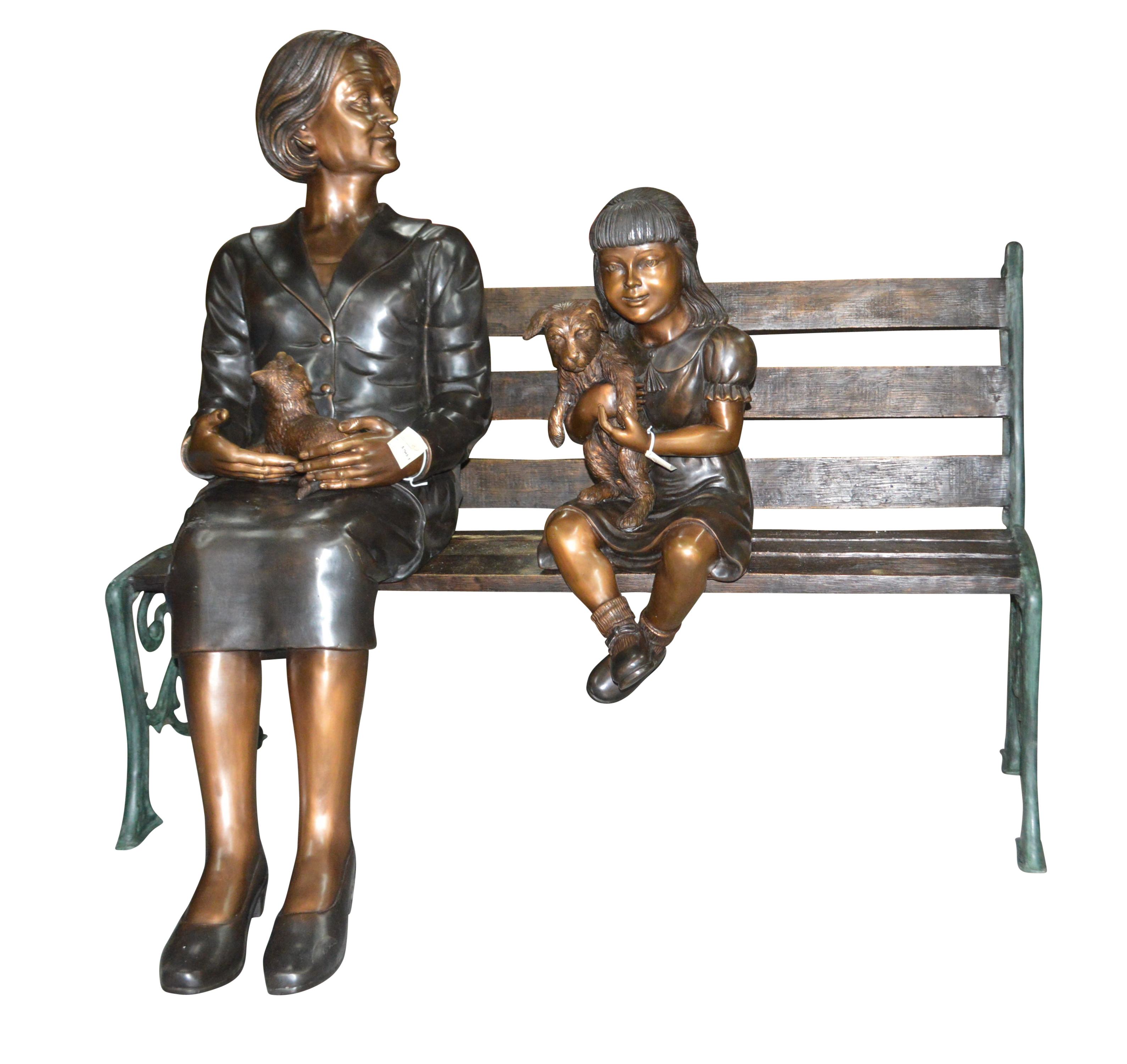 Grandmother And Granddaughter On Bench Statue Size 53 Quot L X 32 Quot W X 44 Quot H Walmart Com Walmart Com
