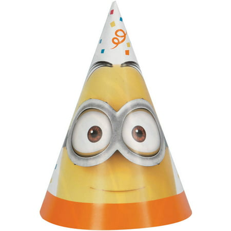 Despicable Me Minions Party Hats, 8ct](Cat In The Hat Hats)