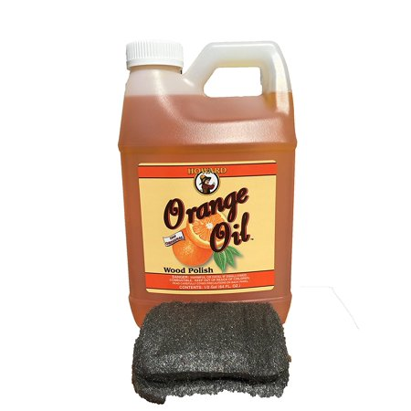 Howard Orange Oil 64 Ounce Half Gallon  Clean Kitchen Cabinets  Best Furniture Polish  Orange Wood Cleaner