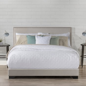 Hillsdale Willow Queen Nailhead Trim Upholstered Bed