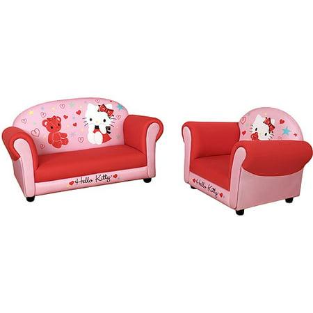 Hello Kitty Sofa And Armchair Set Pink