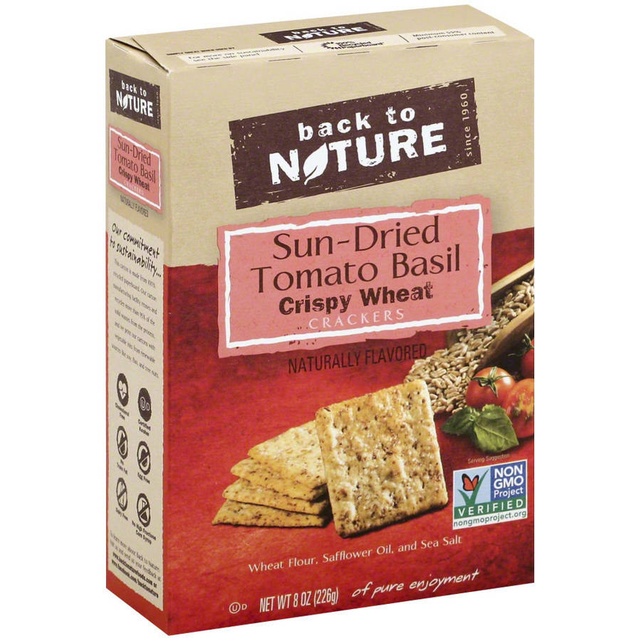 Back To Nature Sun-Dried Tom Basil Crackers, 8 oz, (Pack of 6)