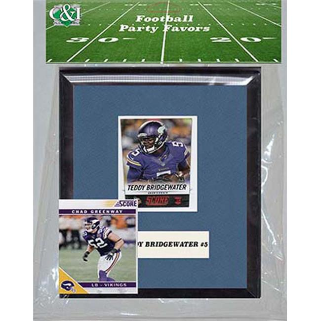 Candlcollectables 67LBVIKINGS NFL Minnesota Vikings Party Favor With 6 x 7 Mat and Frame