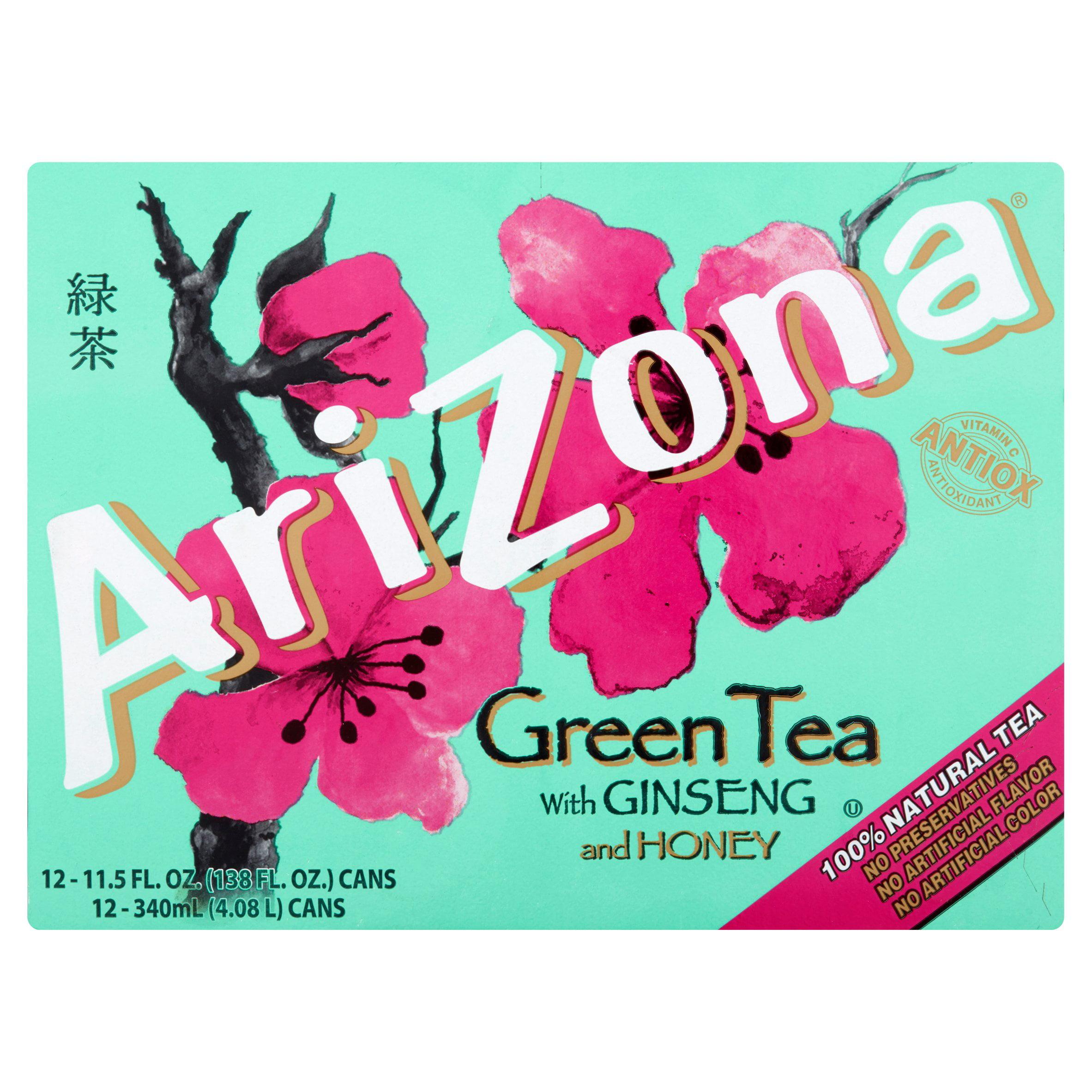 AriZona Green Tea With Ginseng And Honey 12 PK, 11.5 FL OZ by Arizona Beverages USA LLC