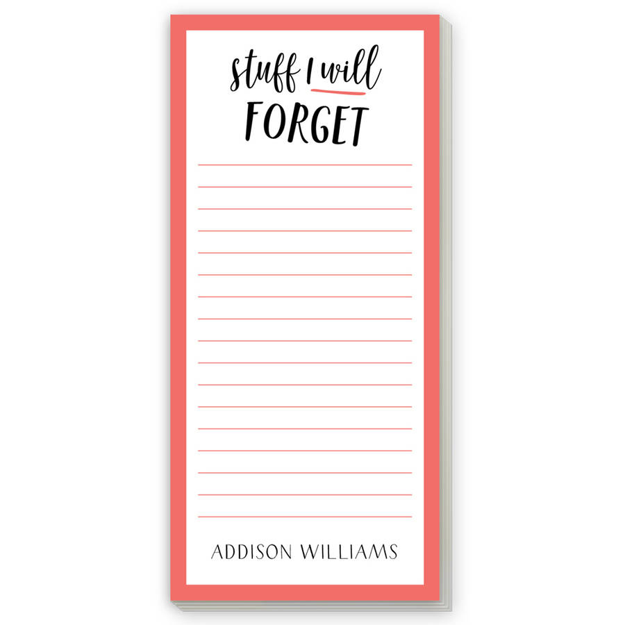 Lots of Awesome Personalized List Pad