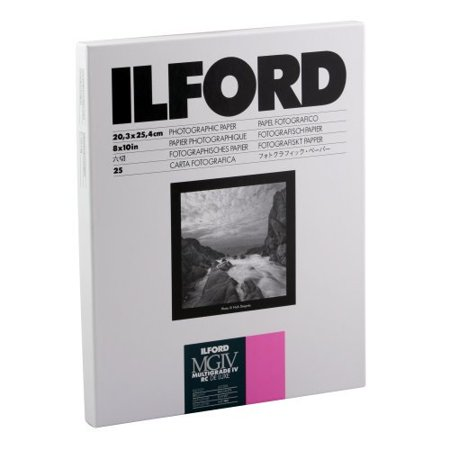 2 Pack - Ilford Multigrade IV RC Deluxe Resin Coated VC Variable Contrast - Black and White Enlarging Paper, 8x10 Inches, 25 Sheets, Glossy Surface (116 8190)