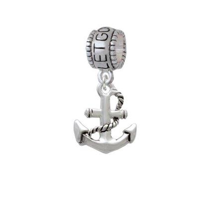 Antiqued Anchor   Let Go Let God Charm Bead