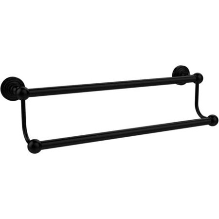 Waverly Place Collection 18-in Double Towel Bar in Matte Black