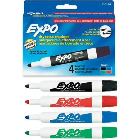Expo, SAN82074, Low Odor Markers, 4 / Pack