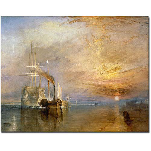 "Trademark Art ""The Fighting Temeraire, 1839"" Canvas Art by Joseph Turner"