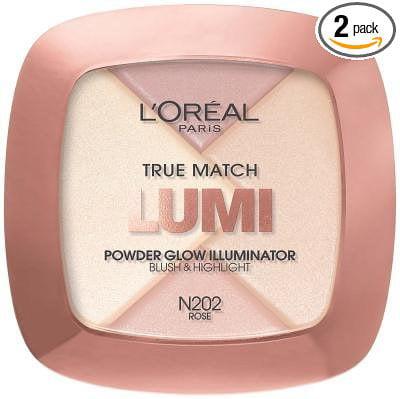 Loreal Paris True Match Lumi Rose Powder Glow Illuminator -- 2 per case., ONLY 1 IN PACK L'Oreal True Match Lumi Powder Glow Illuminator, N202 Rose By L'Oreal Paris