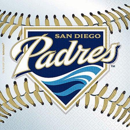 Amscan 203738 San Diego Padres Baseball - Beverage Napkins