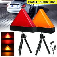 Universal Car Triangle Warning Strobe Light Warning Light with Tripod Emergency Security Flash 2-Mode