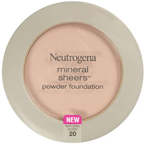 Neutrogena Mineral Sheers Compact Powder Foundation SPF 20, Natural Ivory 20, 0.34 oz