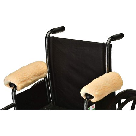 NOVA Medical Sheepskin Fleece Armrest Covers for Wheelchairs, Transport Chairs and Arm Chairs, Universal Fit, Washable, One Pair, SOFT & COMFORTABLE.., By NOVA Medical Products (Nova Transport Wheelchair)