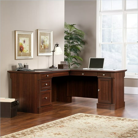 Sauder Palladia L Shaped Desk Select Cherry Finish
