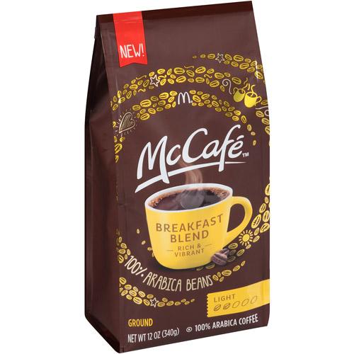 McCafe Breakfast Blend Light Ground Coffee, 12 oz