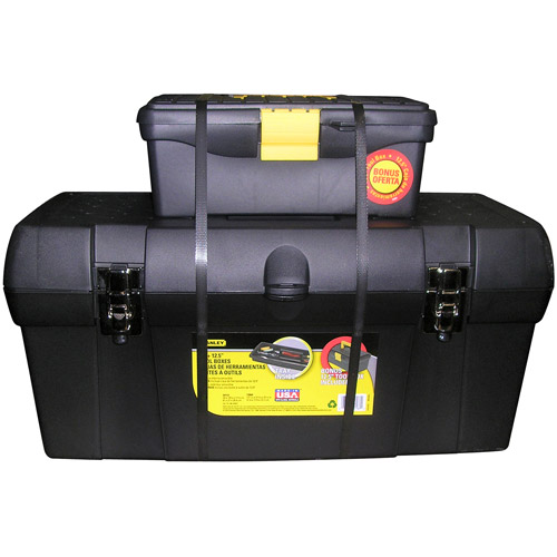 "Stanley 24"" Tool Box with Bonus 13"" Tool Box"