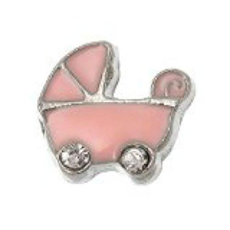 Baby Carriage Floating Charm for Glass Living Memory Locket Pendant