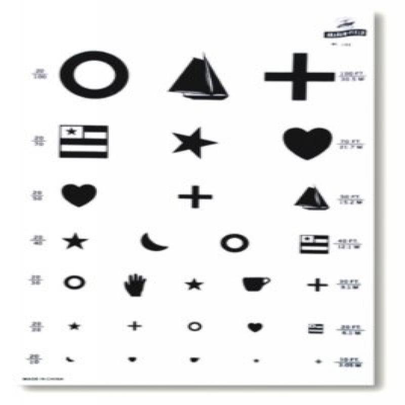 Graham Field Grafco Eye Test Kindergarten Chart