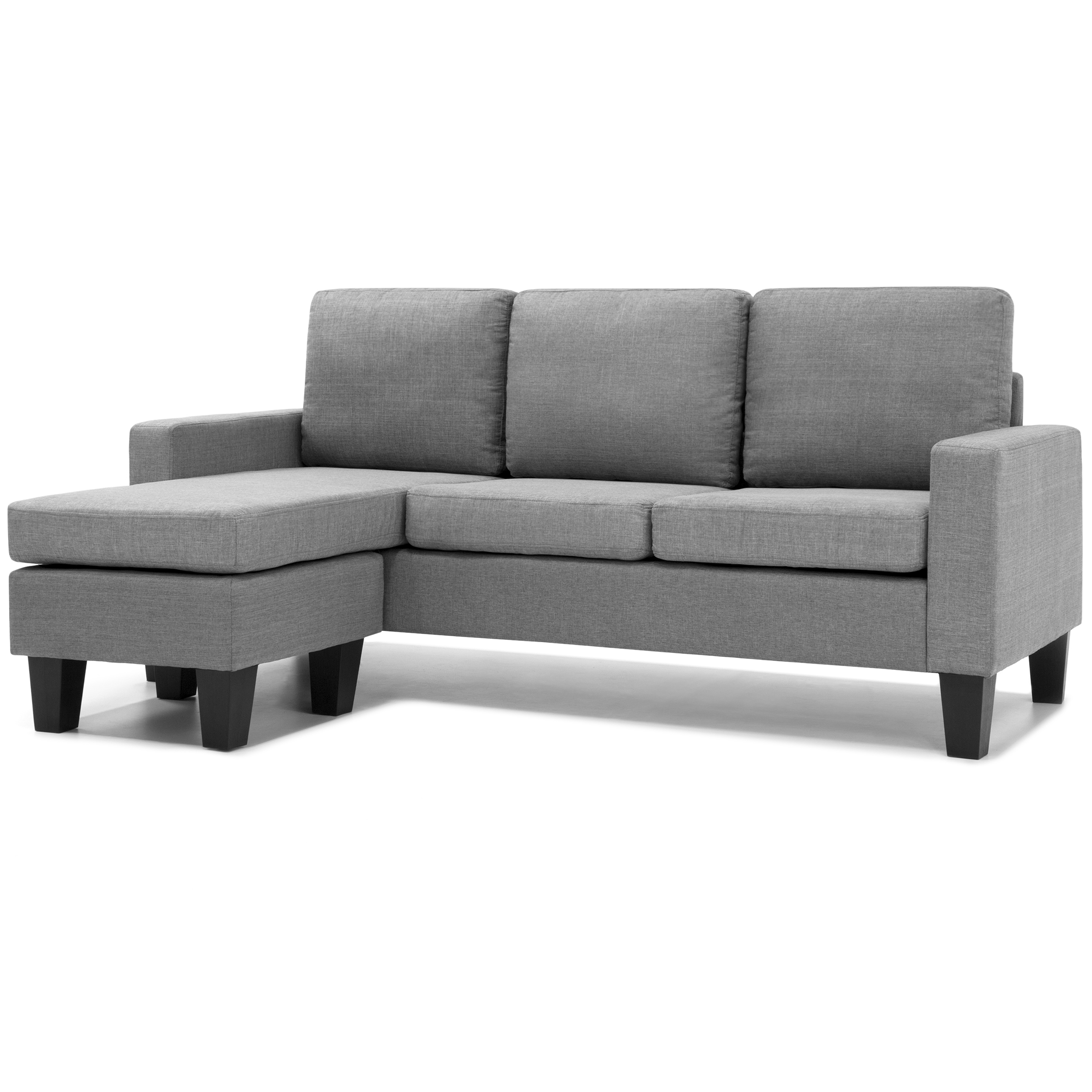 Best Choice Products Home Linen L Shape Sectional Sofa Couch W/ Reversible  Chaise Ottoman
