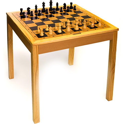 Sterling Games Wooden Chess Table