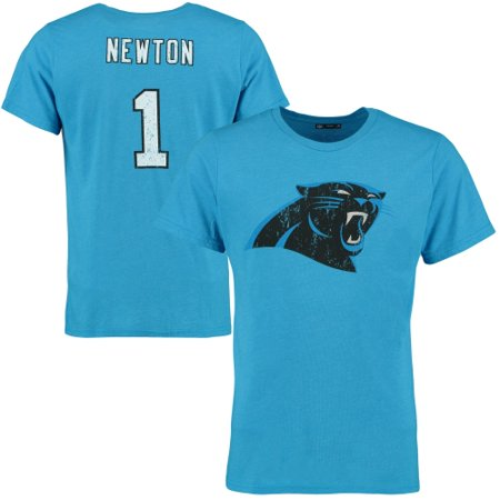 reputable site 03cd8 e6555 Cam Newton Carolina Panthers Tri-Blend Name & Number T-Shirt - Blue