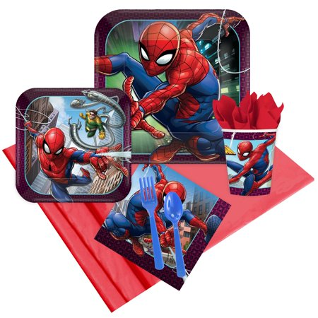Spiderman Webbed Wonder 16 Guest Party Pack (Adult Male Party Ideas)