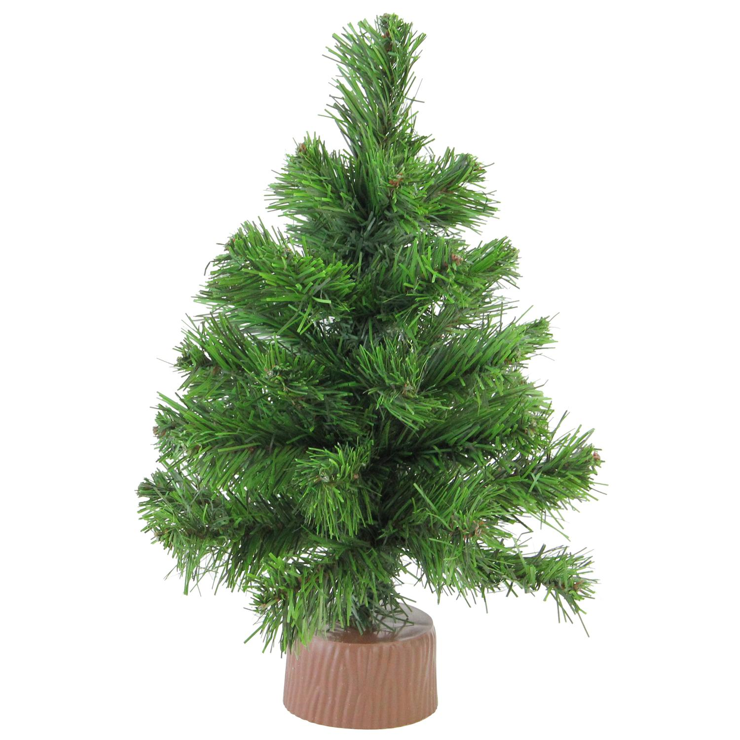 "12"" Pine Christmas Tree in Faux Wood Base"